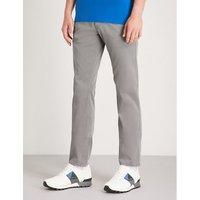 苗条-适合 伸展-棉 休闲裤