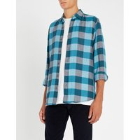 Checked regular-fit cotton shirt