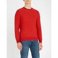 Crewneck cotton and wool-blend jumper
