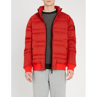 Logo-patch quilted shell-down jacket