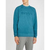 Logo-detail stretch-cotton sweatshirt