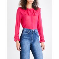 Lizzie ruffle silk-chiffon blouse