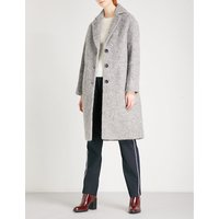 Slim Drawn bouclé coat