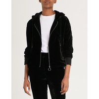 Hooded velvet jacket