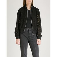 Hollywood embroidered lace bomber jacket