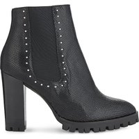 Studded heeled ankle boots