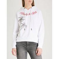 Palm tree cotton-jersey hoody