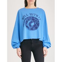 Roll With It cotton-jersey top