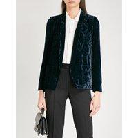 Patterned velvet jacket