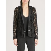Corded floral-lace jacket