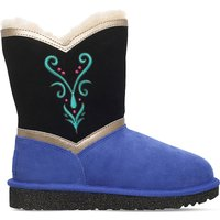 Ugg Anna coronation sheepskin boots 6-9 years, Size: EUR 33 / 1 UK ADULT, Blk/blue