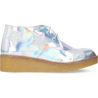 Holographic Wendy wedge boots 6-11 years