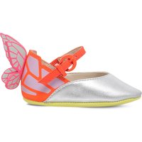 Sophia Webster Chiara butterfly baby leather shoes 0-6 months, Size: EUR 16 /4-5 months, Silver