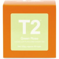 T2 Tea Green rose loose leaf flavoured green tea gift cube 100g