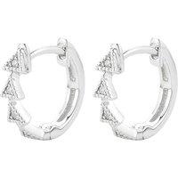 THE ALKEMISTRY | Diamond Triangle 14ct white-gold diamond earrings | Goxip