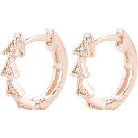 Diamond Triangle 14ct rose-gold diamond earrings