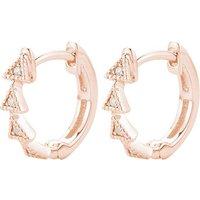 Dana Rebecca diamond triangle 14ct rose-gold diamond earrings