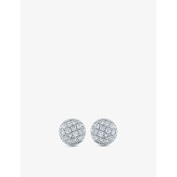 The Alkemistry 14ct white gold and diamond disc earrings, White gold