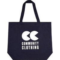 COMMUNITY CLOTHING | Community Clothing Logo cotton tote bag, Navy | Goxip
