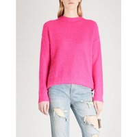 Cutout-back knitted jumper