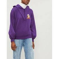 Eagle-print cotton-jersey hoody