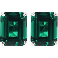 Carat London Emerald 1.5ct solitaire stud earrings, Women's, Green