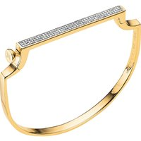 Monica Vinader Signature 18ct yellow-gold vermeil and diamond bangle, Women's, yellow