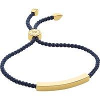 Monica Vinader Linear 18 carat gold plated vermeil friendship bracelet, Women's