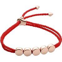 Monica Vinader Linear Bead 18ct rose-gold plated friendship bracelet, Women's