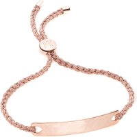 Monica Vinader Havana 18ct rose gold-plated friendship bracelet, Women's, Rose rose metallica
