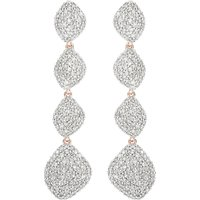 Nura Teardrop 18ct rose-gold vermeil and diamond earrings