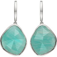 Monica Vinader Siren sterling silver amazonite nugget earrings, Women's
