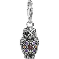 Charm Club sterling silver multistone owl charm