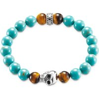 Thomas Sabo Rebel at Heart turquoise skull bracelet, Women's, Size: L, turquoise