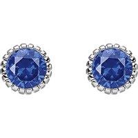 Glam & soul dark blue stone sterling silver ear studs