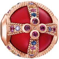 Royalty Red rose-gold karma bead