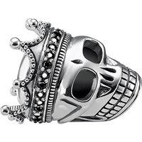 THOMAS SABO | Skull King sterling silver karma bead | Goxip