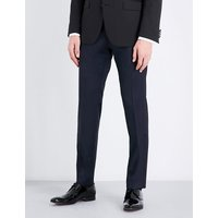 HUGO BOSS | Regular-fit wool and satin trousers | Goxip