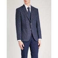 定期-适合 伸展-羊毛 和 亚麻布-混合 夹克