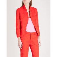 Paisley-pattern jacquard blazer