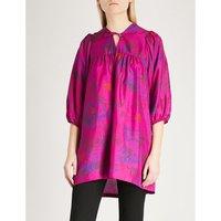 Tepeat jungle-print silk-crepe de chine tunic