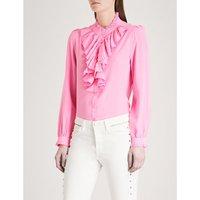 Tacco ruffled silk shirt