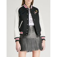 ZADIG & VOLTAIRE | Birdie wool-blend and leather bomber jacket | Goxip