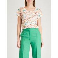Meryl butterfly-print linen T-shirt