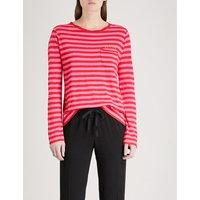 Regy striped cotton-blend top