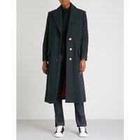 Martin single-breasted wool-blend coat