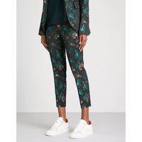 Posh jungle jacquard trousers
