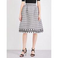 Maje Josy two-tone lace skirt, Women's, Size: S, Bicolore