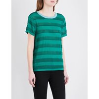 Maje Loretta knitted top, Women's, Size: S, Vert