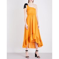 Maje Rasti one-shoulder satin dress, Women's, Size: M, Jaune